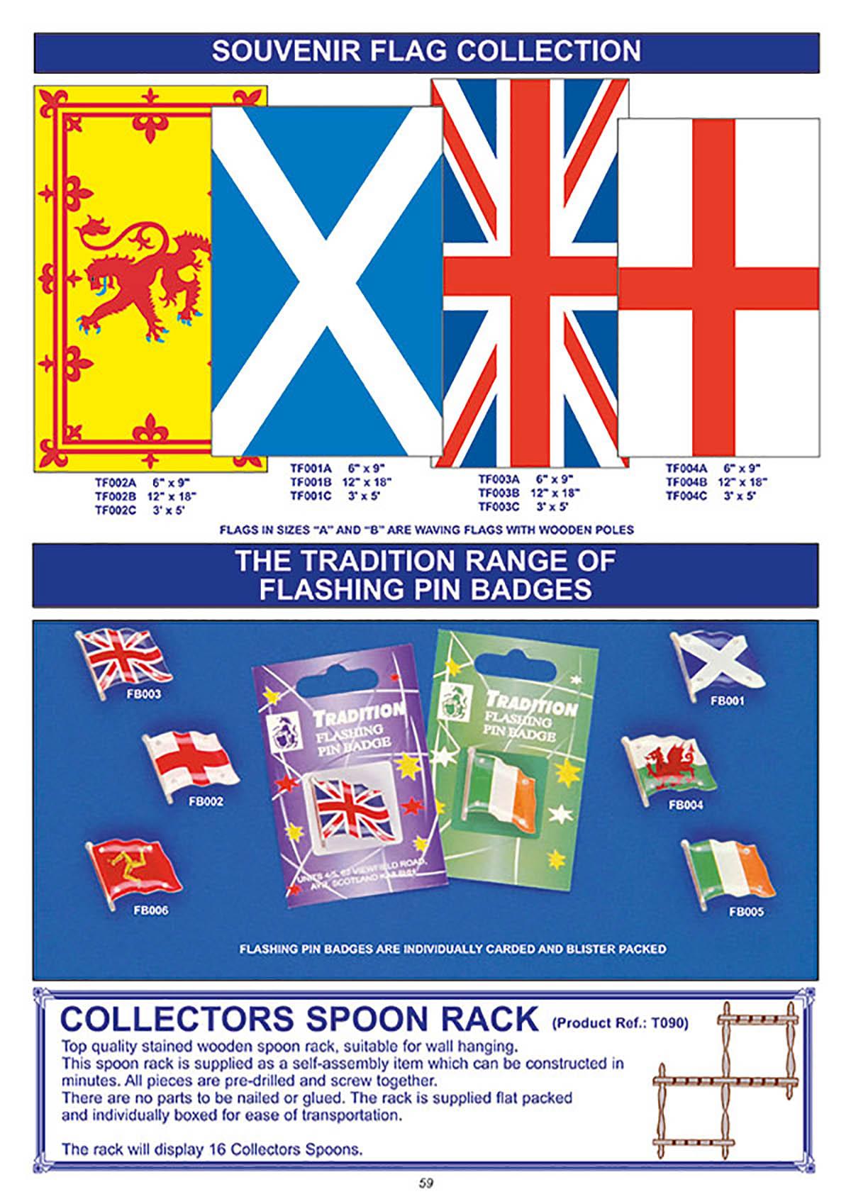 Souvenir flag collection
