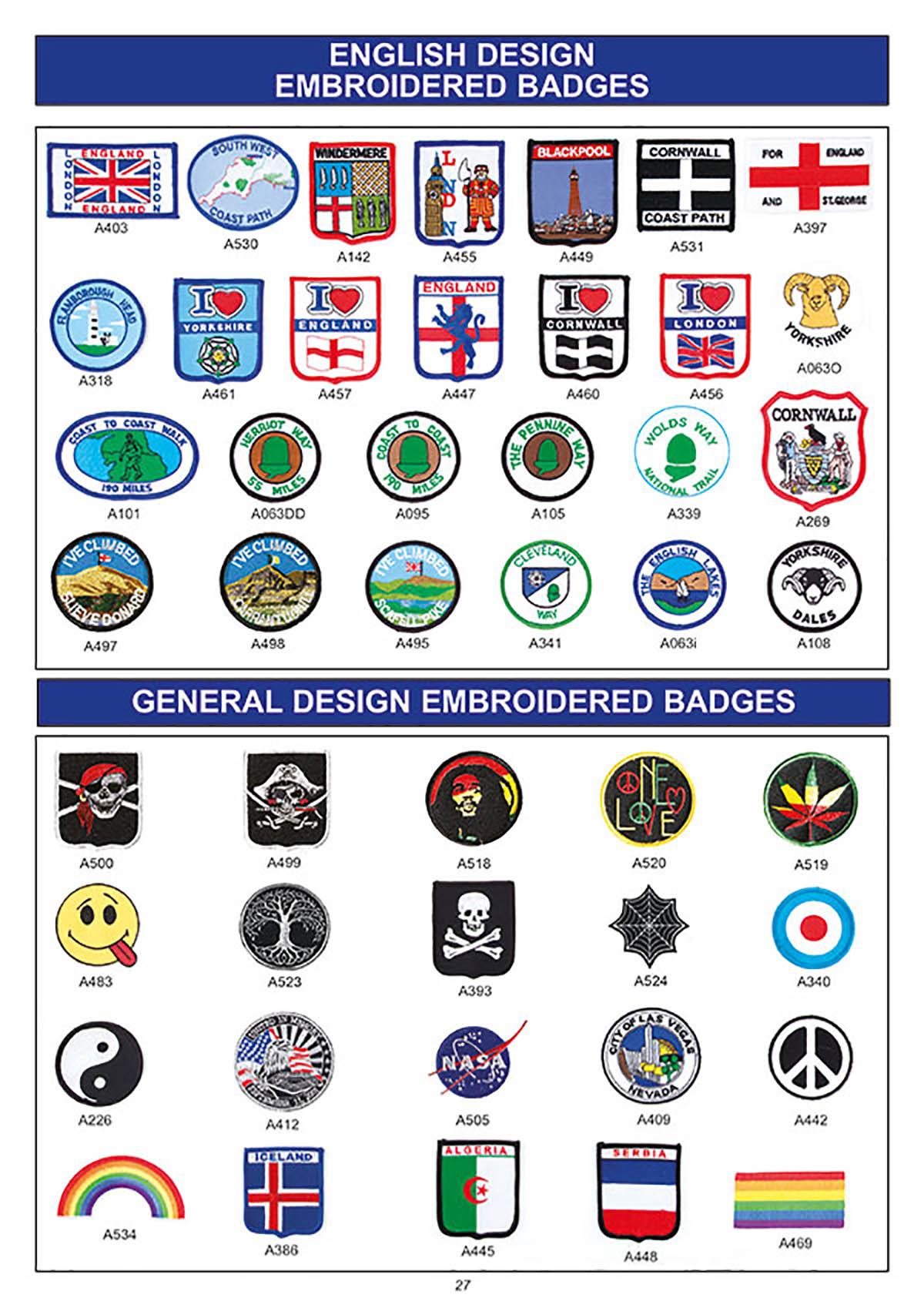 souvenir english design badges