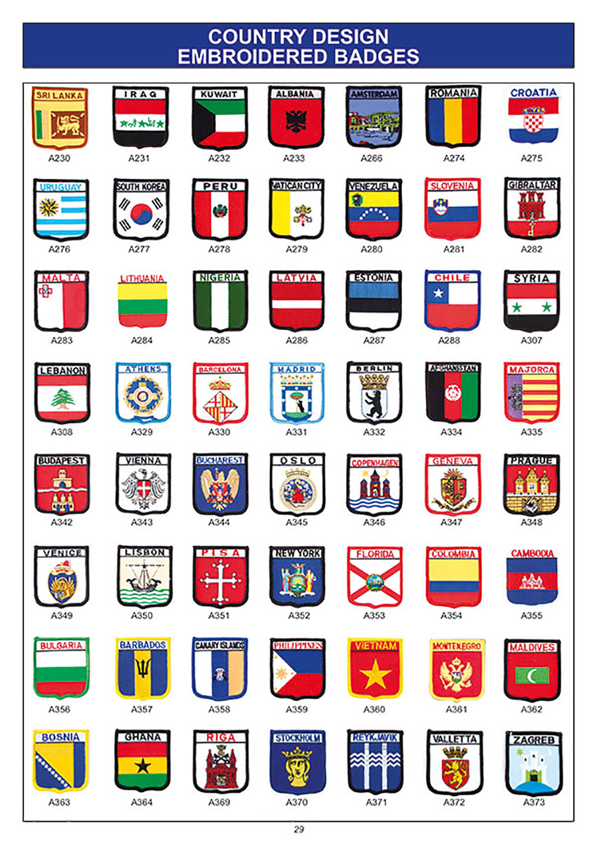 souvenir flag embroidered badges