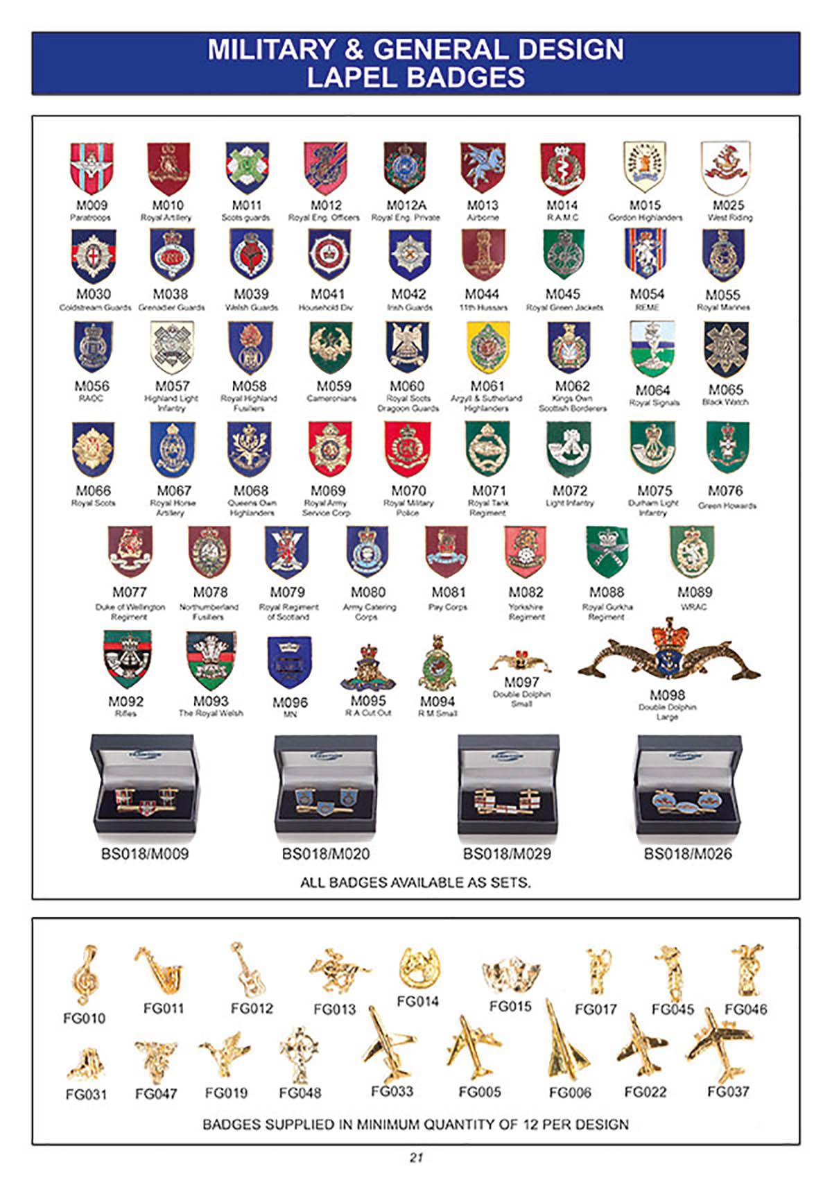 souvenir military lapel badges